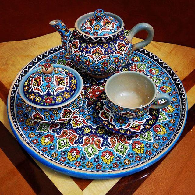 سرویس چای خوری سفالی